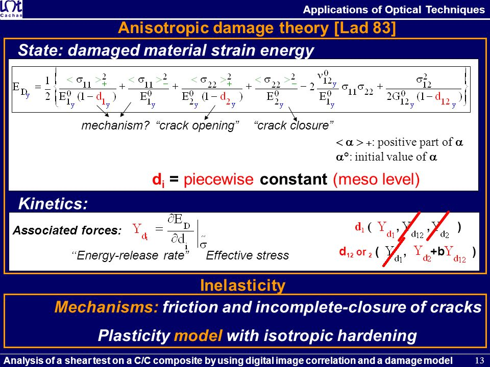 Anisotropic damage theory [Lad 83]